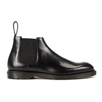 Dr. Martens Men's Henley Wilde Polished Smooth Leather Low Chelsea Boots Black