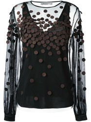 Sportmax Sheer Blouse Black