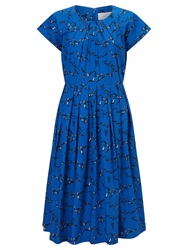 Collection Weekend By John Lewis Flock Of Birds Dress Bright Blue