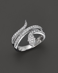 Bloomingdale's Diamond Snake Ring In 14K White Gold .45 Ct. T.W.