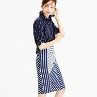 J.Crew Petite Pencil Skirt In Chevron Stripe