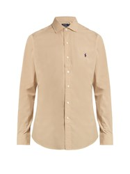 Polo Ralph Lauren Slim Fit Cotton Poplin Shirt Camel