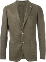 Tagliatore Two Button Blazer Green