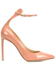 Francesco Russo Ankle Strap Pointy Pumps Pink And Purple