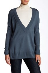14Th And Union Deep V Knit Pullover Blue