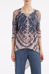 Raquel Allegra Women S Cocoon Shredded Top Boutique1 Blue