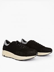 Our Legacy Black Mono Runner Suede Sneakers