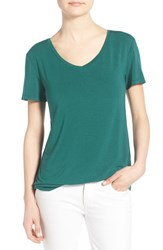 Women's Halogen Modal Jersey V Neck Tee Teal Pacific