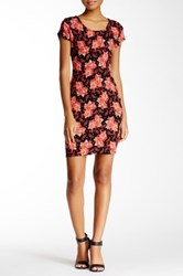 Blvd Floral Short Sleeve Dress Black