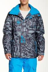 Quiksilver Mission Print Snow Jacket Gray