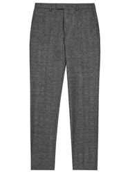 Reiss Morrow Wool Slim Fit Suit Trousers Charcoal