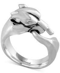 Effy Collection Gento By Effy Men's Panther Head Ring In Sterling Silver