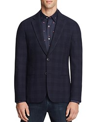 Paul Smith Kensington Unlined Check Slim Fit Sport Coat Navy
