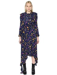 Vetements Floral Printed Stretch Cady Dress