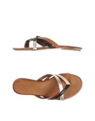 Inuovo Thong Sandals Black
