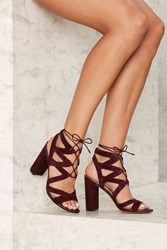 Sam Edelman Yardley Suede Heel Burgundy 71586