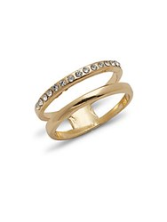 Jules Smith Designs Cubic Zirconia And 14K Gold Plated Ring