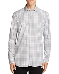 Billy Reid John T Check Slim Fit Button Down Shirt Light Blue Gray