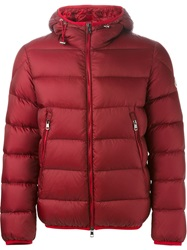 Moncler 'Chauvon' Bomber Jacket Red