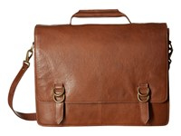 Scully Hidesign Aaron Workbag With Padded Compartment Tan Bags