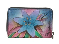 Anuschka 1110 Luscious Lilies Denim Coin Purse Multi