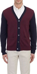 Todd Snyder Colorblock Cardigan Red