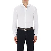Luciano Barbera Men's Cotton Pique Shirt White