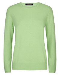 Jaeger Cashmere Crew Neck Sweater Green