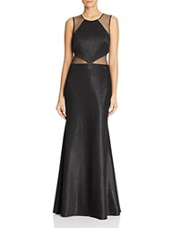 Js Collections Illusion Inset Gown Black