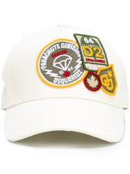 Dsquared2 Parachute Patch Baseball Cap White