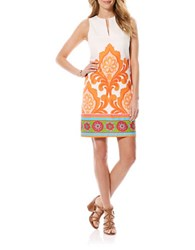 Laundry By Shelli Segal Multicolor Printed Shift Dress Autumn Glow