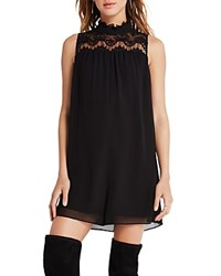 Bcbgeneration Embroidered Yoke Chiffon Romper Black