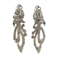 Passionate About Vintage Vintage Panetta Rhinestone Drop Earrings