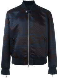 Neil Barrett Patchwork Print Bomber Jacket Black