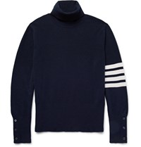 Thom Browne Striped Cashmere Rollneck Sweater Blue