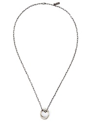 Henson Faceted Infinity Necklace Metallic