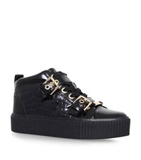 Carvela Kurt Geiger Lovejoy Flatform Buckle Sneakers Female Black