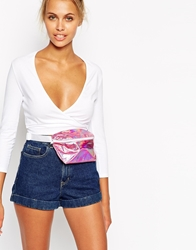 American Apparel Wrap Front Crop Top White