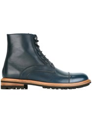Dolce And Gabbana Lace Up Ankle Boots Blue