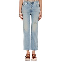 Simon Miller Women's Straight Leg Crop Jeans Blue