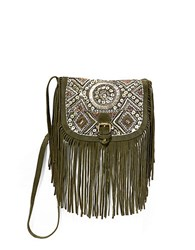 Big Buddha Siena Faux Suede Crossbody Bag