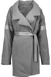 Norma Kamali Reversible Cotton Blend Jersey Coat Gray