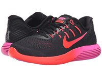 Nike Lunarglide 8 Black Multicolor Noble Red Bright Crimson Women's Running Shoes