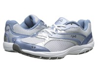 Ryka Dash Met.Lake Blue Chrome Silver Steel Grey White Women's Walking Shoes Gray