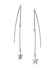 Lord And Taylor Starlight Sterling Silver Threader Earrings