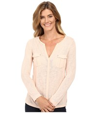 Calvin Klein Jeans Long Sleeve Rollup With Cargo Pockets Oxidized Pink Women's Clothing Beige