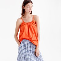 J.Crew Cotton Swing Cami In Bright Persimmon