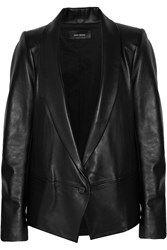 Isabel Marant Bale Leather Jacket Black