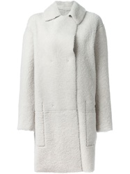Sofie D'hoore Shearling Reversible Coat White