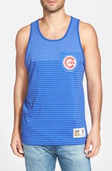 Men's Mitchell And Ness 'Chicago Cubs' Stripe Pocket Tank